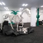 Fiber-Artist Michele Beevors Knits Life-Size Skeletons and They're Extreme!