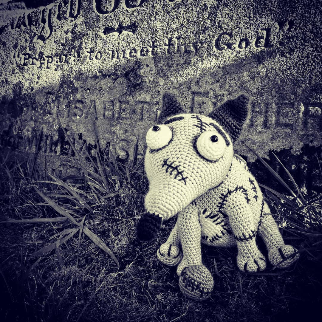She Crocheted Sparky From Tim Burton's Frankenweenie!