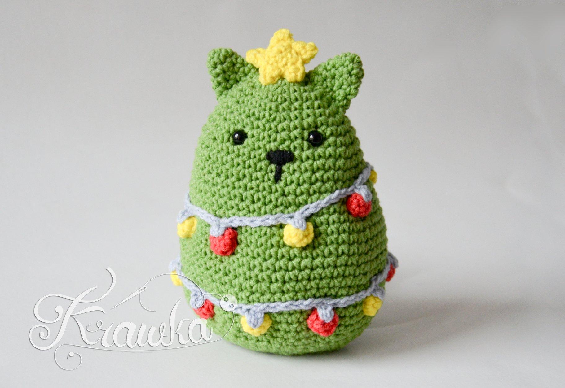 Crochet a Christmas Cat Tree, Pattern By Krawka