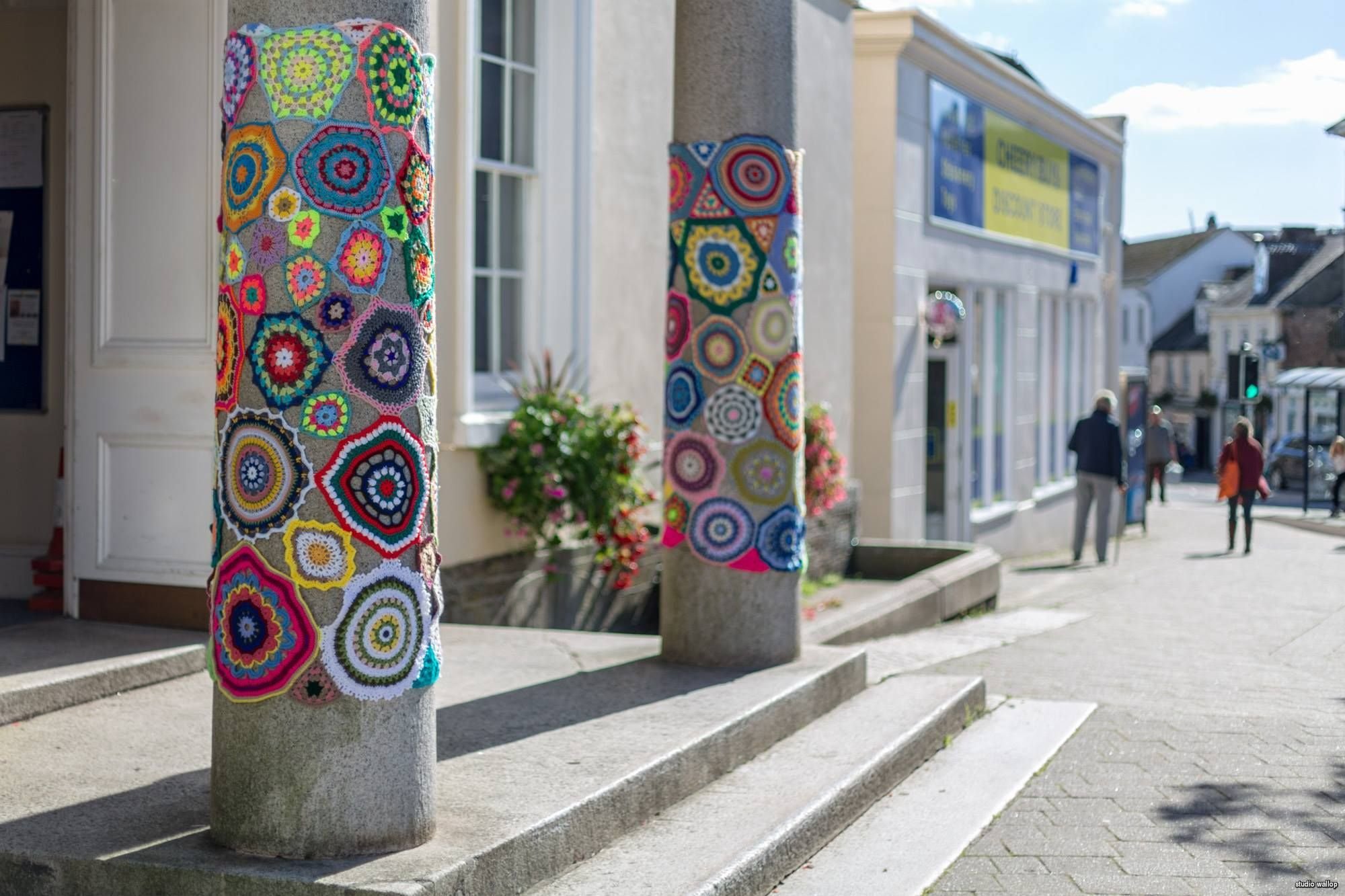 Fun Yarn Bombs Spotted in Liskeard For Their Annual Wool Festival