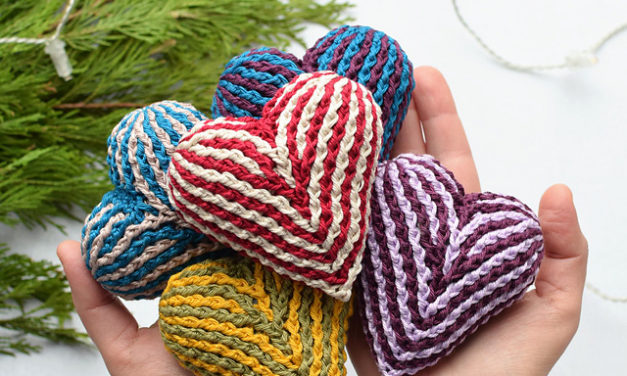 Crochet a Gorgeous Brioche Heart With This Free Pattern From Lilla Björn Crochet