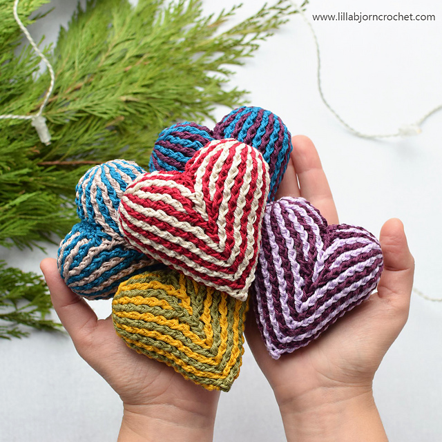 Crochet a Gorgeous Brioche Heart