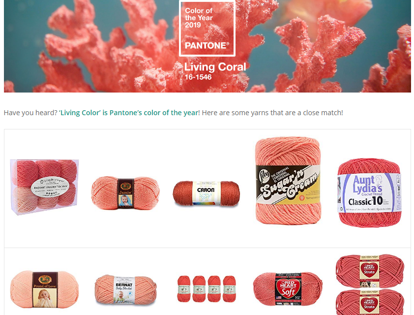 The Best Yarns To Knit & Crochet in Honor of Pantone's Color of the Year, 'Living Coral'