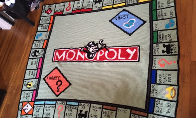 This Crocheted Monopoly Throw Transcends All Blankets Before, After, and Forevermore – Yes, There's a Pattern!