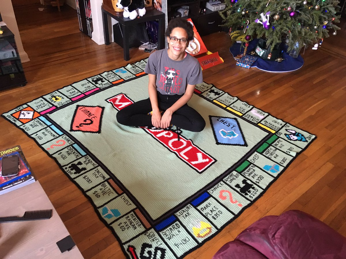 This Crocheted Monopoly Throw Transcends All Blankets Before and Forevermore