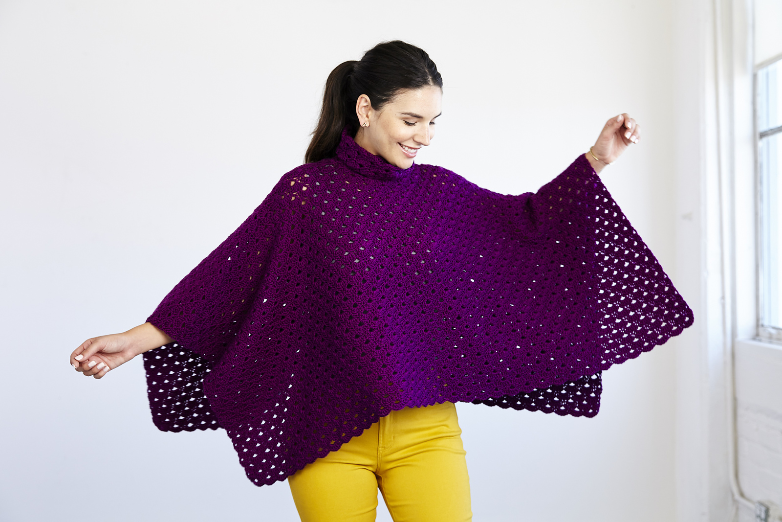 Crochet a Perfectly Panache Chic Poncho, the Pattern is FREE!