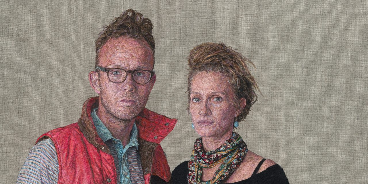 Astounding Photorealistic Portraits Embroidered By Fiber Artist Cayce Zavaglia