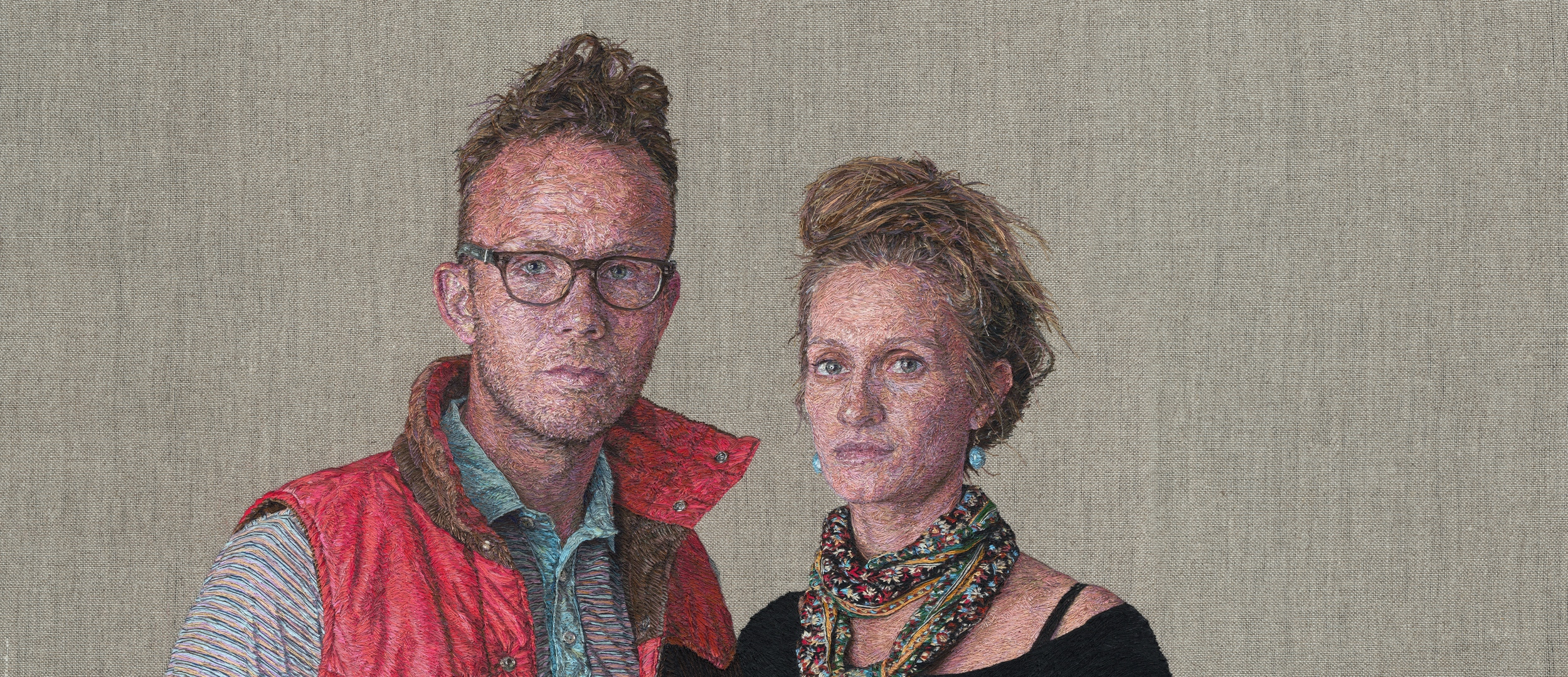 Astounding Photorealistic Portraits Embroidered By Fiber Artist Cayce Zavaglia