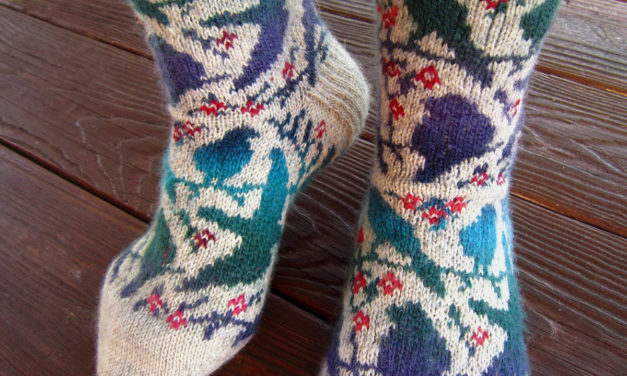 Knit a Pair of Awesome Socks, They Have On Them and the Pattern is FREE!