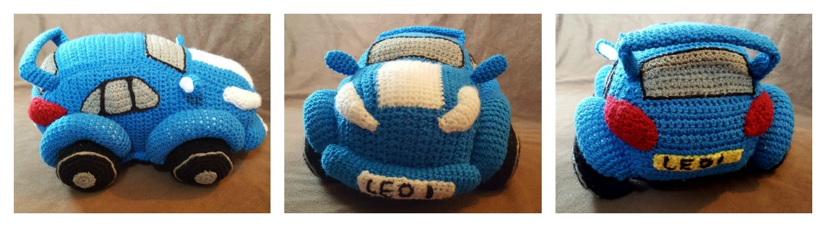 Crochet a Race Car With a Free Pattern from Hooks and Dragons