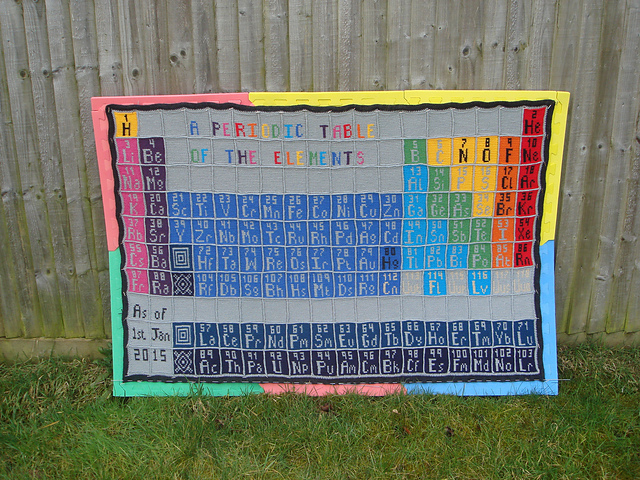 Nerd Alert: Download These Free Charts to Crochet a Complete Periodic Table Afghan