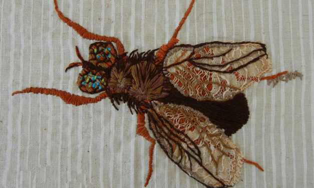 Handmade Bag Featuring Extraordinary Hand-Embroidered Fly – So Good!