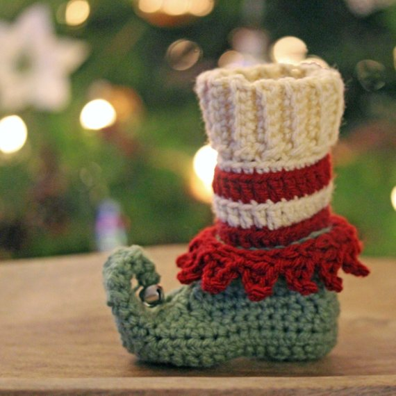 Crochet a Pair of Elf Booties For the Holidays, For Yourself or Someone You Love!
