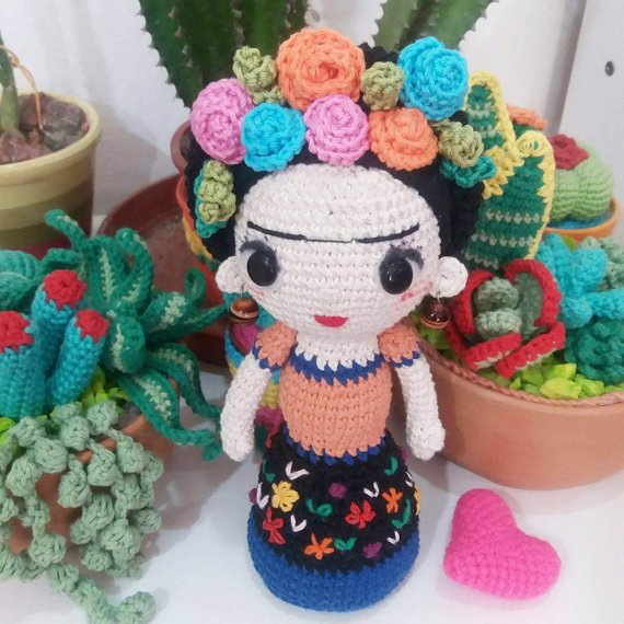 Get the pattern, inspired by Frida Kahlo