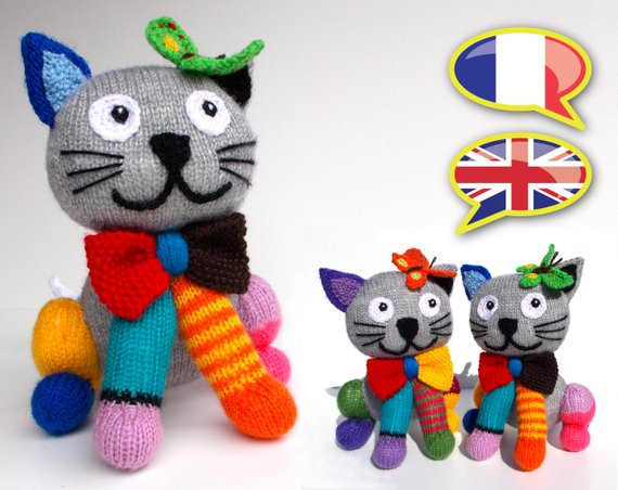 Knit a Colorful Kitty-Cat, Fun & a Wee Bit Kooky Too!