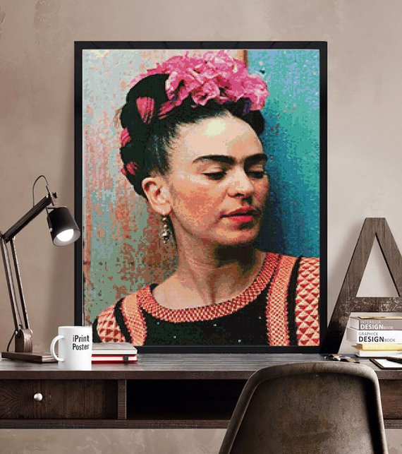 Get the Frida Kahlo inspired pattern