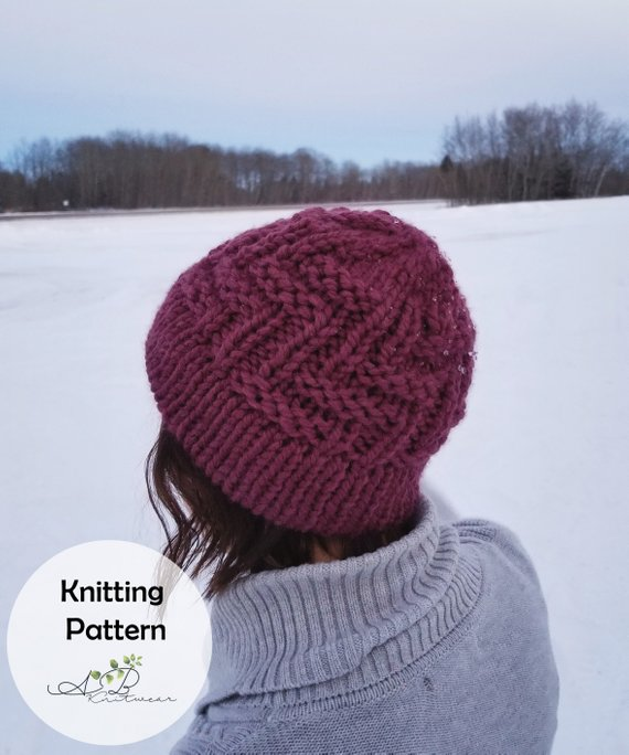 Knit a Bulky Hat With a Funky Design, Works Up Fast!