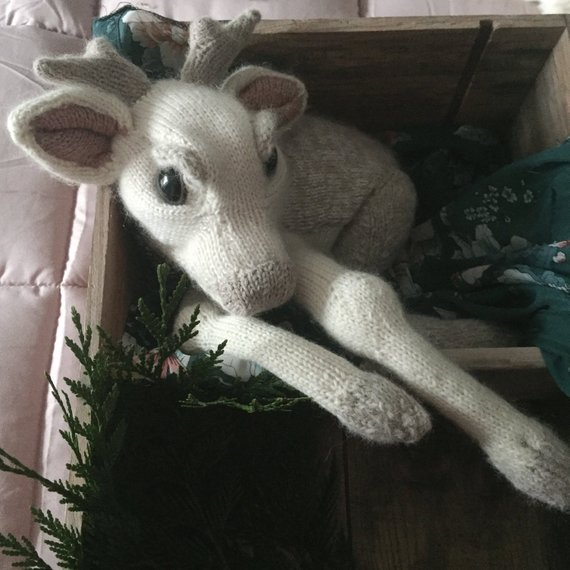 Limited Edition Pattern: Knit a Rare White Baby Fawn, Designed By Claire Garland