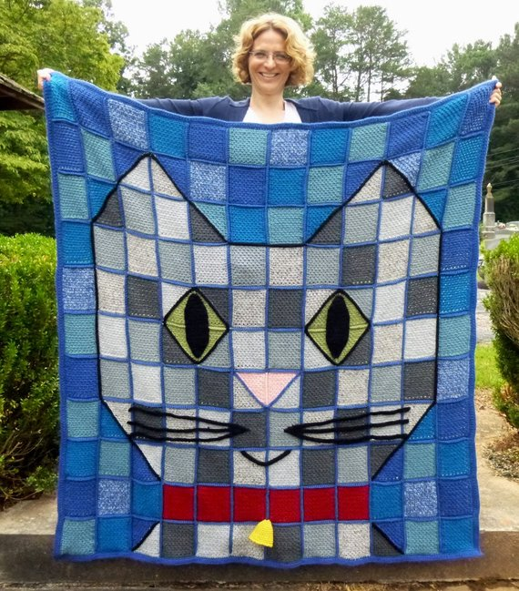 Crochet a Beautiful, Adorable and Unique Cat Throw Blanket