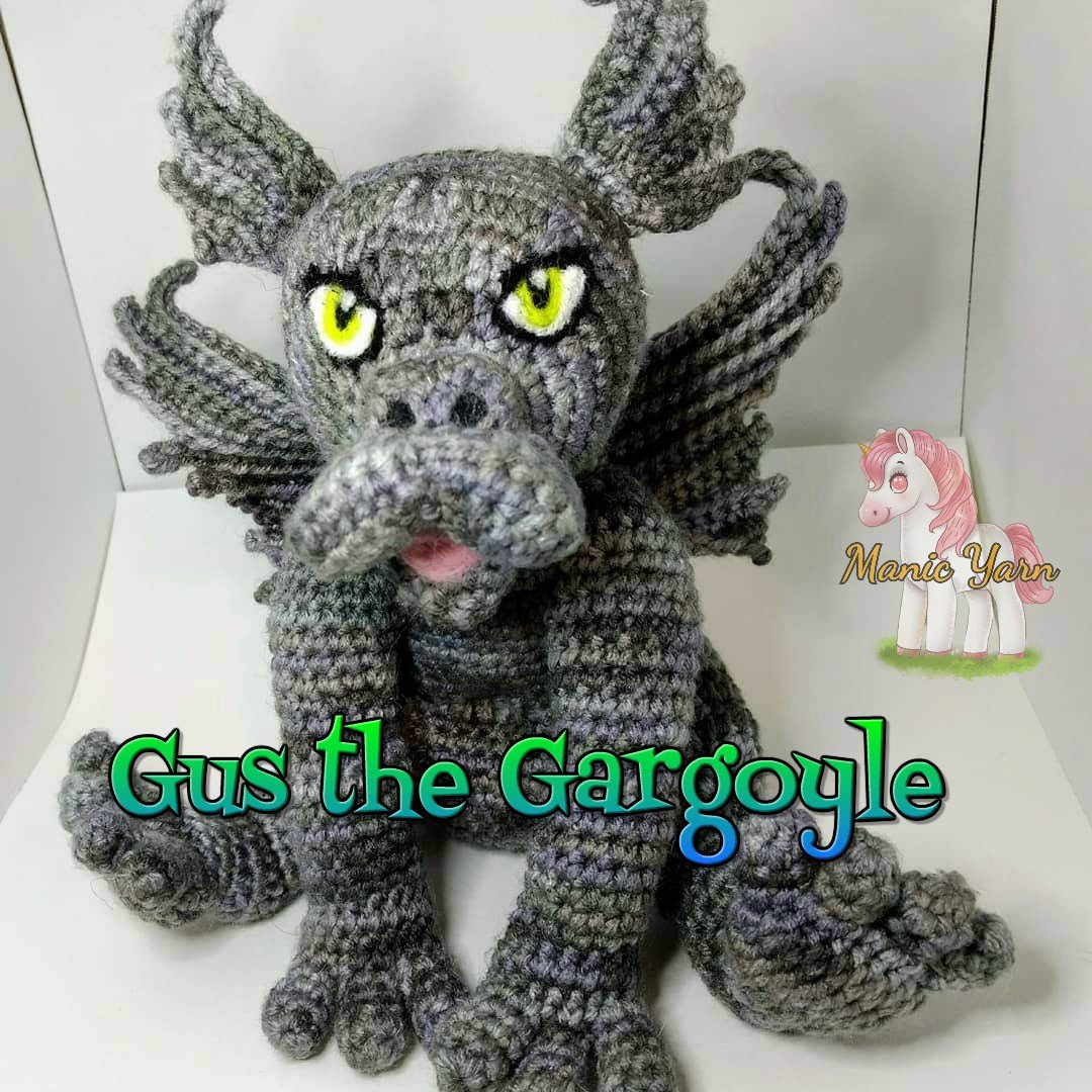 Crochet a Gus the Gargoyle With This New Pattern From Manic Yarn ... OMG, His Cute Little Bum!