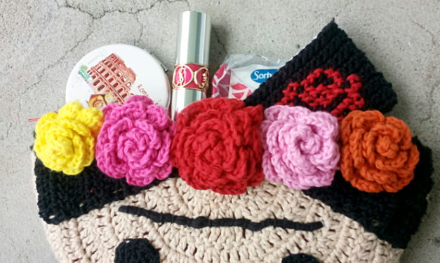 Crochet a Cute Frida Kahlo Inspired Clutch – Free Pattern and Tutorial!