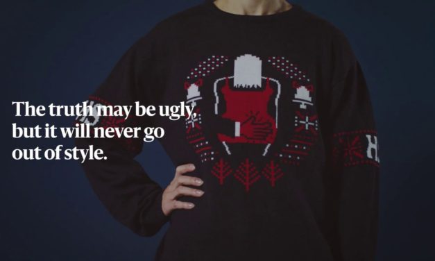 Finnish Newspaper Knits Ugly Christmas Sweaters Depicting 2018's Ugliest News #uglytruthsweaters