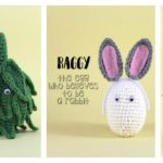 Fun Crochet Food Amigurumi by Momou … Meet Raggy the Egg, Sal the Salami and Arthur the Artichoke