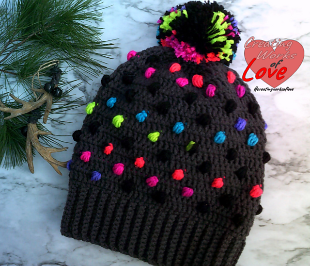 Puff Stitch Christmas Tree Hat Pattern, Designed By Jennifer MacEwen