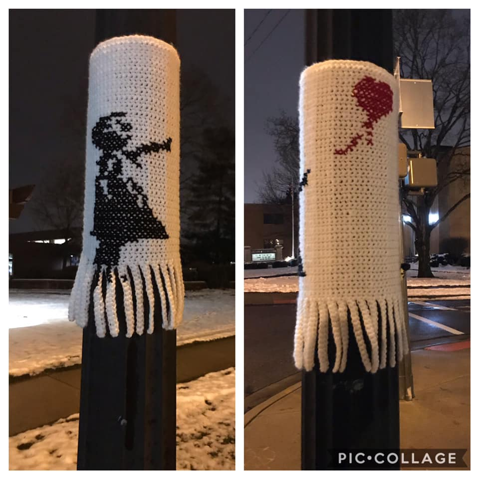 Brilliant 'Girl With Balloon' Banksy Yarn Bomb