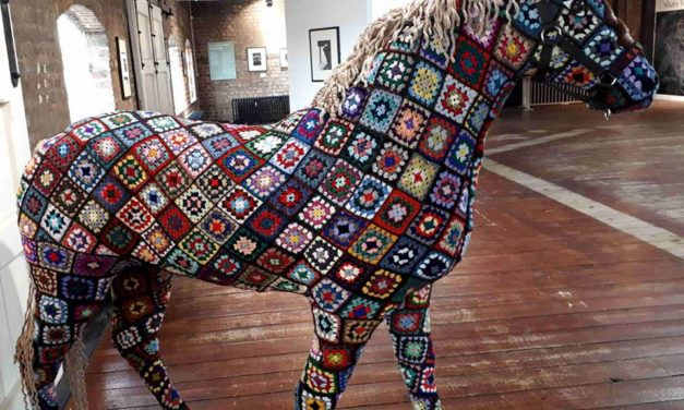 Check Out This Crafty Horse Covered In Crochet Granny Squares … It's More Than Just Art!