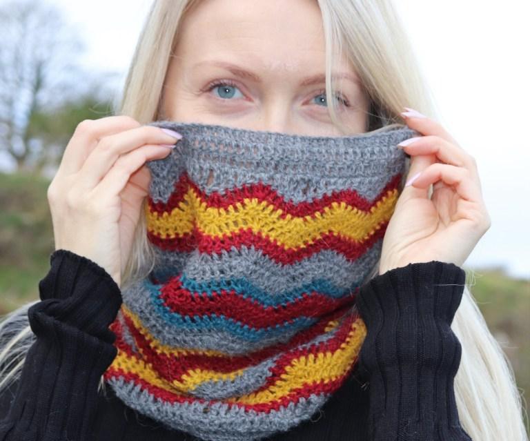 Crochet a Thunder Bolt Cowl … Free Pattern Alert!