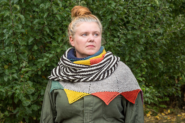 This Colorful Asymmetric Shawl Designed By Anna Maltz Will Turn Heads – It's Simply Marvelous