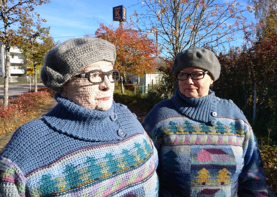 Life-Size Crochet Sighting In Kyröskoski, Finland, Bet You Had To Look Twice!
