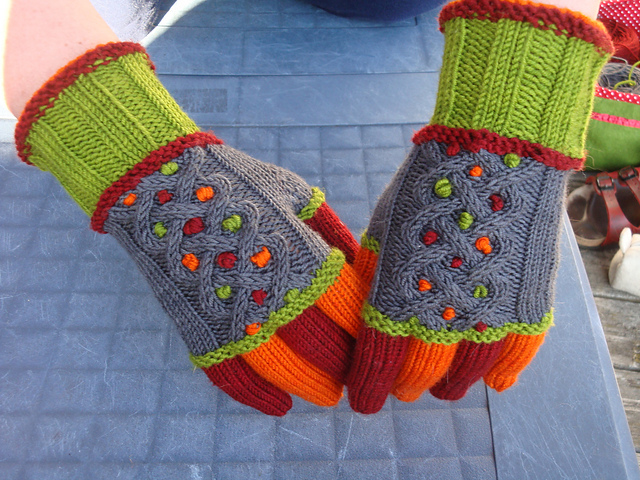 Knit a Pair of Colorful Sebastian Gloves, Designed by Kristin Nicholas