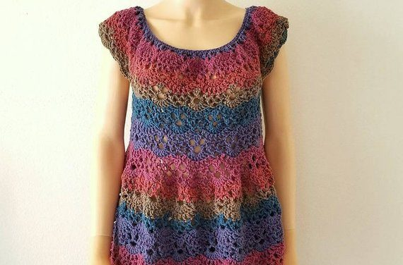 Spring Is Coming, Time To Crochet a Lacy Shells Flowy Tunic