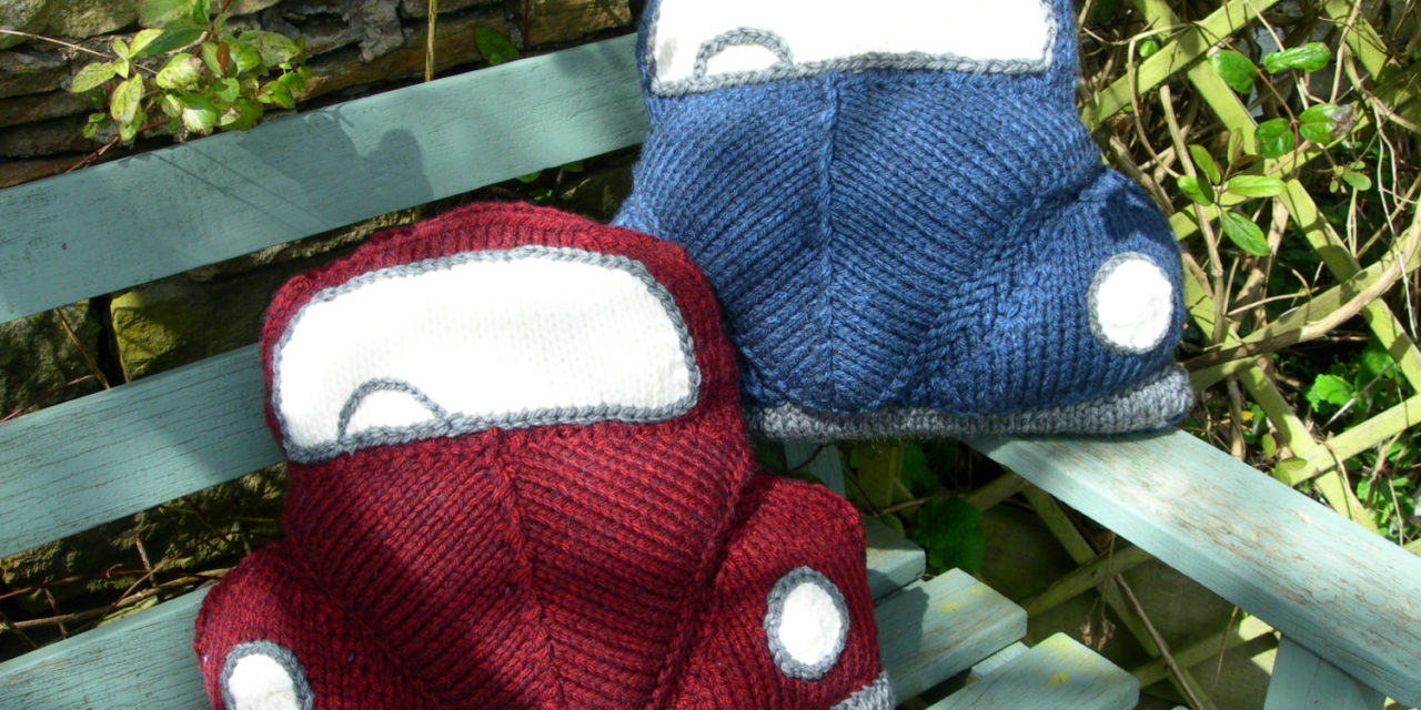 Love the VW Bug? Knit a Pair of These Classic Car Cushions … They're Perfection!