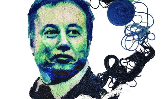 Check Out Katika's Amazing Crochet Portrait of Elon Musk!