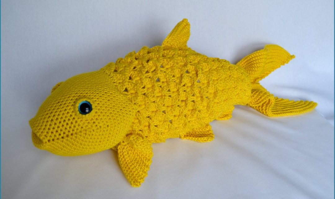 We Can't All Have a Backyard Pond Filled With Koi, So How About a 2-Foot Crochet Koi Amigurumi Instead?