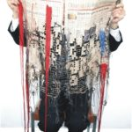 'Losses' – Kirsty Whitlock Embroidered a Financial Times From 2009 Using Recycled Materials