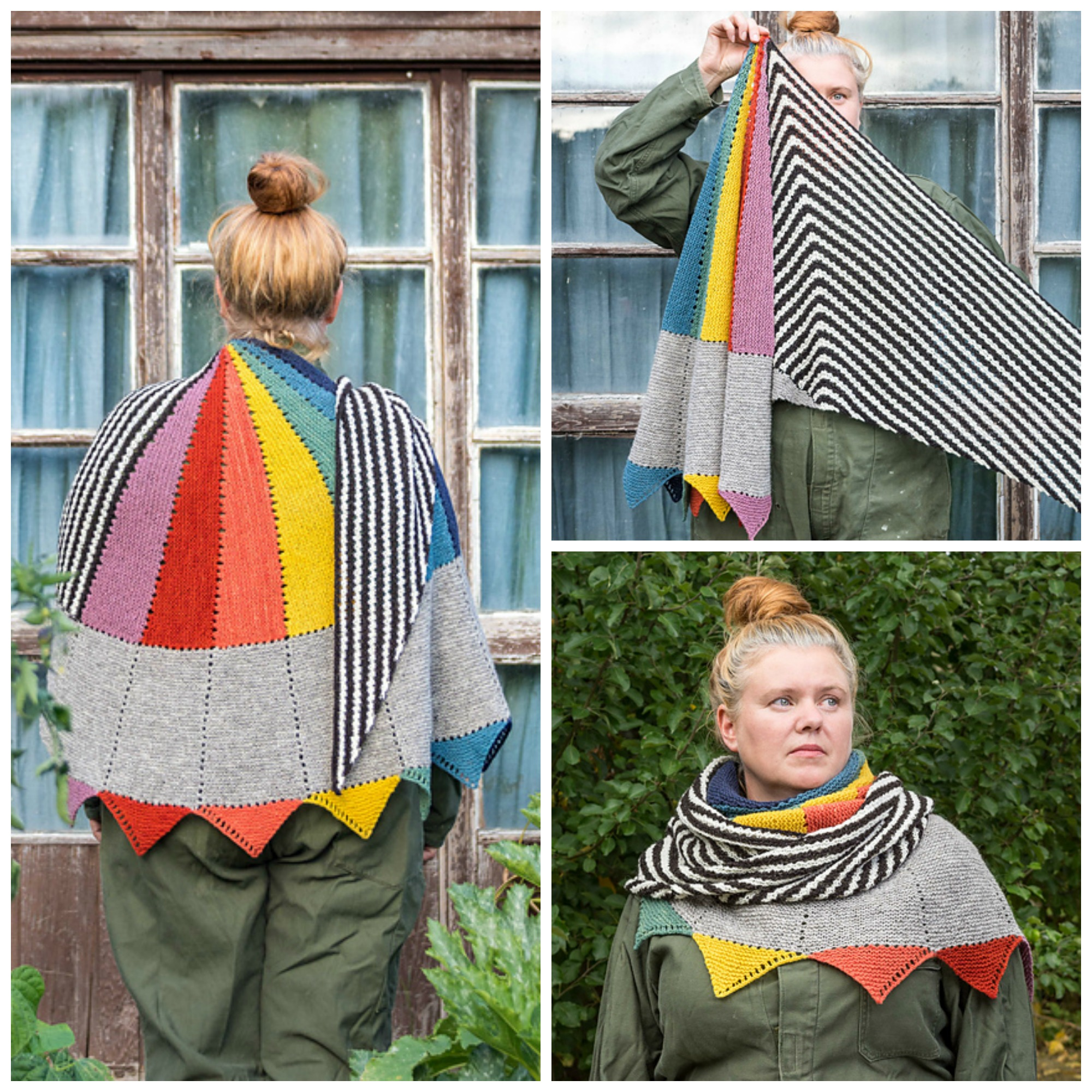 This Colorful Asymmetric Shawl Designed By Anna Maltz Will Turn Heads - It's Simply Marvelous