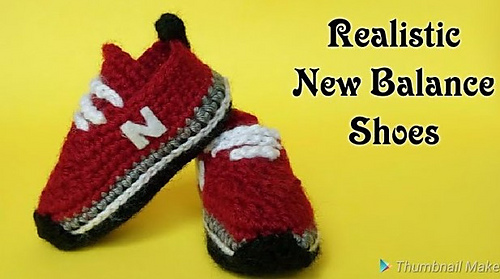 Crochet Baby Sneakers Make The Best Gift, These Tiny New Balance Running Shoes Are Everything!