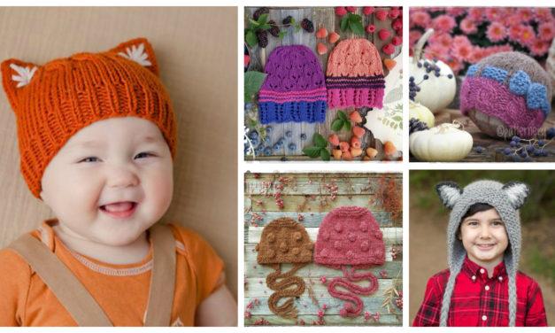 Designer Spotlight: Colorful & Charming Knit Hat Patterns By Marina Novikova of Patternery