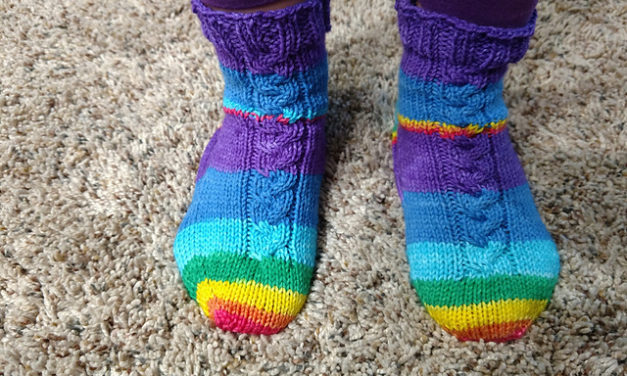 Knit a Pair of Kid's Braided Cable Socks … The Pattern is FREE!