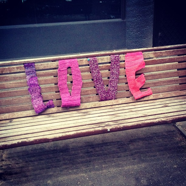 All You Need Is Love & This Awesomesauce Yarn Bomb