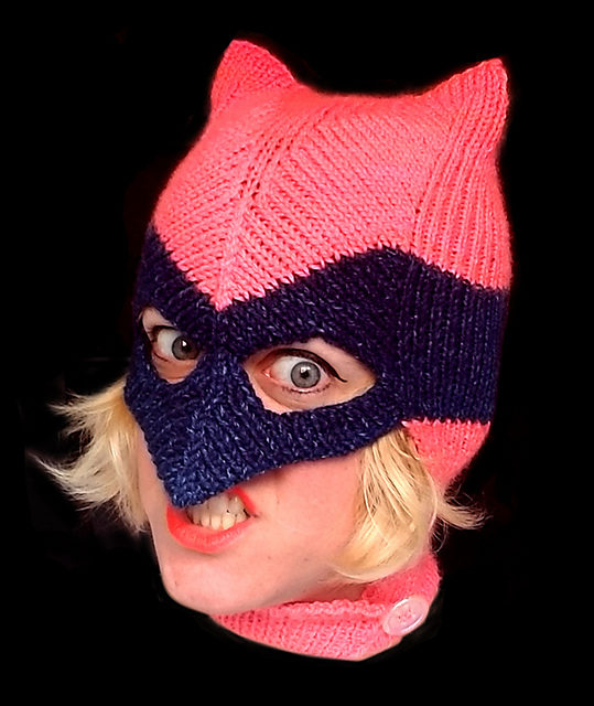 Knit a Vigilante Mask, Perfect For Cosplay, Designed By Amy Reeder