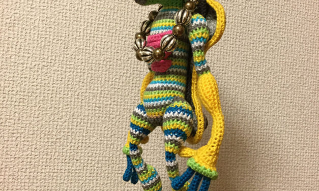 'Pink Pigtails' Amigurumi Doll Sculpture Crocheted By Makoto Kitazawa … Basic Pattern Available