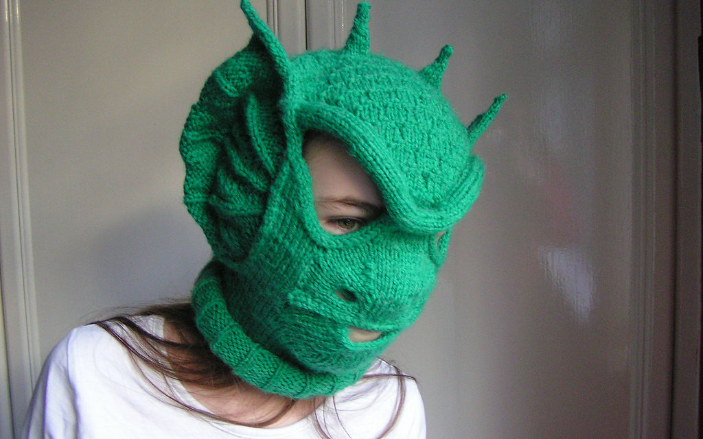 Incredible Knit 'Dracoclava' … A Fantastically Unique Take On The Balaclava