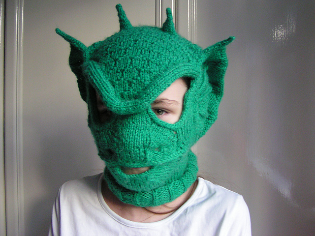 Incredible Knit 'Dracoclava' ... A Fantastically Unique Take On The Balaclava