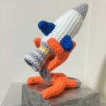 Rocket Sculpture Crocheted By Makoto Kitazawa