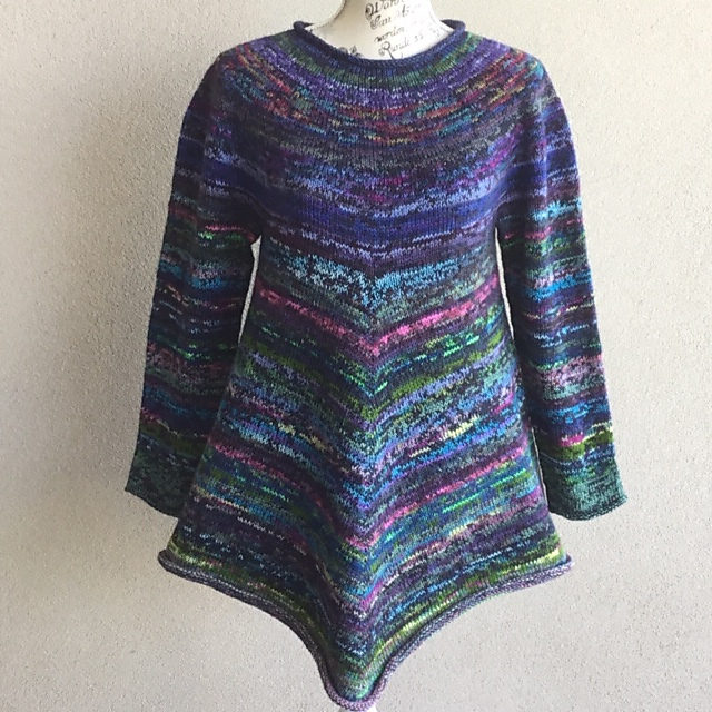 Knit a Cute Tunic With This Leftover Sock Yarn Stashbuster, Free Pattern!